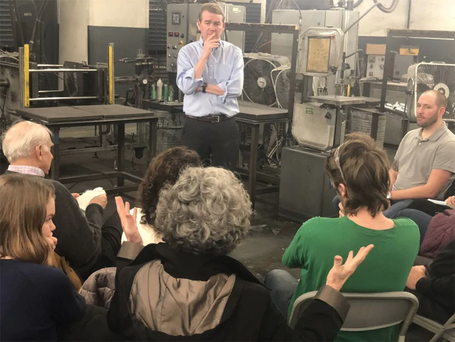 Sen. Michael Bennet Visits Graphicast for a Town Hall Meeting